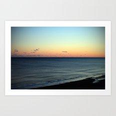 Sunset over the Ocean Art Print