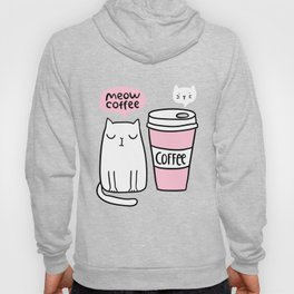 Meow coffee cat Hoody