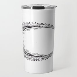 Crescent Mandala Moon Travel Mug