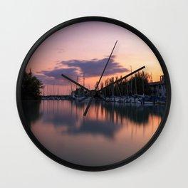 Sunset at Lake Balaton Wall Clock