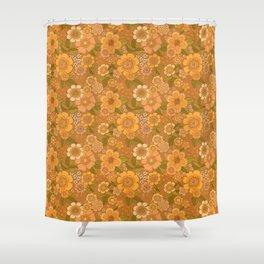 Flower power soft Apricot Shower Curtain