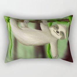 Just slothin' Rectangular Pillow