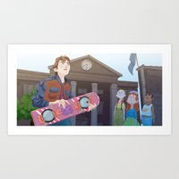 marty mcfly Art Prints featuring Marty McFly by Lesley Vamos