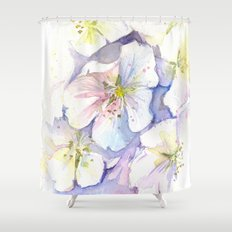 Cherry Blossoms Flowers Spring Floral Shower Curtain