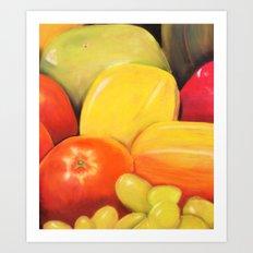 Fruit - Pastel Illustration Art Print