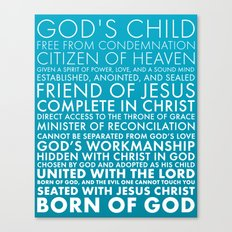 Identity in Christ Canvas Print