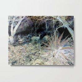 Alien view of Deer Metal Print