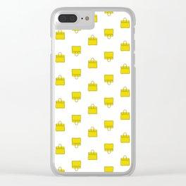 Lemon Yellow Birkin Vibes High Fashion Purse Illustration Clear iPhone Case