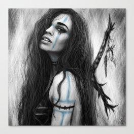 Death's Tireless Whisper Canvas Print
