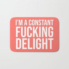 I'm a Constant Fucking Delight (Living Coral) Bath Mat