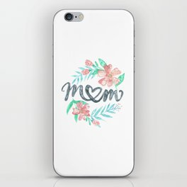 Mom Watercolor Floral Wreath iPhone Skin