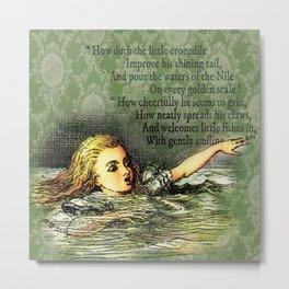 Alice's Adventures in Wonderland Chapter II: The Pool of Tears Metal Print