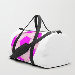 Pink And White Football Duffle Bag