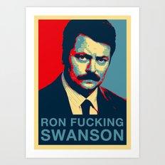 Ron F***ing Swanson Art Print