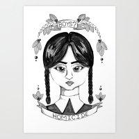 Wednesday Addams Portrait Art Print