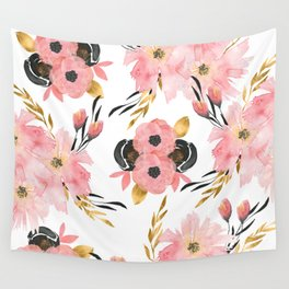 Night Meadow on White Wall Tapestry