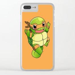 TMNT_POKET_MONSTER_orange Clear iPhone Case