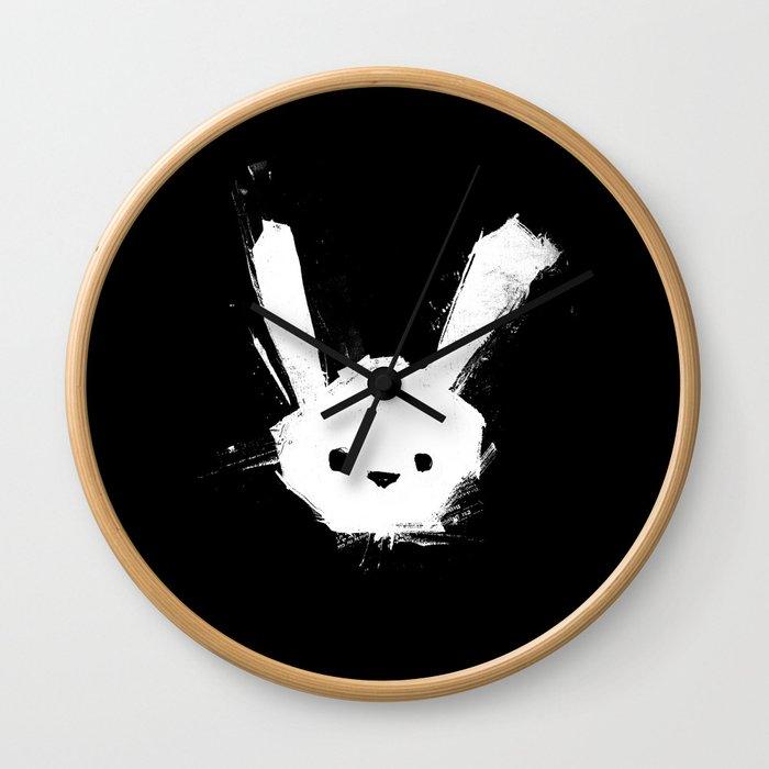minima - splatter rabbit  Wall Clock