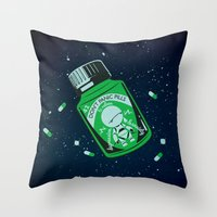 medicine Throw Pillows featuring Marvin's Medicine by Thomas Hy