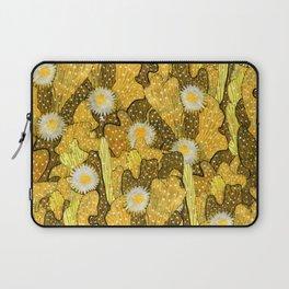 Cacti Camouflage, Floral Pattern, Golden Husk Laptop Sleeve
