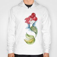little mermaid Hoodies featuring Little Mermaid by Ines92