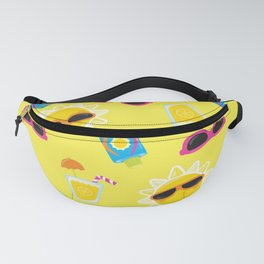 Summer Neck Gaiter Sunshine Sunglasses Suntan Lotion Lemonade Neck Gator Fanny Pack