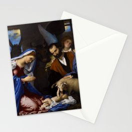 Lorenzo Lotto - Adoration of the Shepherds Stationery Cards