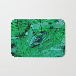 trama verde Bath Mat