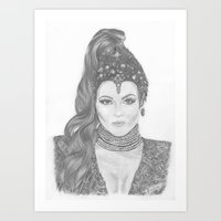 evil queen Art Prints featuring Evil Queen by Krischelle Nielsen