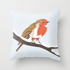 Robin. Throw Pillow