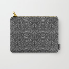 Abstract and faux crocodile skin .Texture Dark gray . Carry-All Pouch