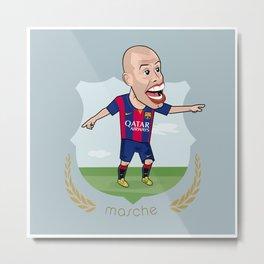 Mascherano - Barcelona v2 Metal Print