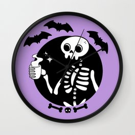 Death Before Decaf // Purple Wall Clock