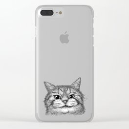 Toothy Cat Clear iPhone Case