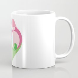 Heart shaped family logo. Mother, father, little boy and little girl Coffee Mug