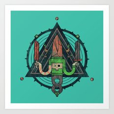 He, with the peculiar voice Art Print