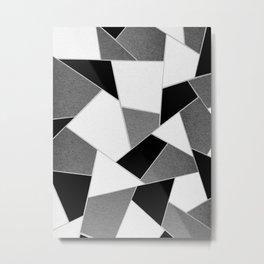 Gray Black White Geometric Glam #1 #geo #decor #art #society6 Metal Print