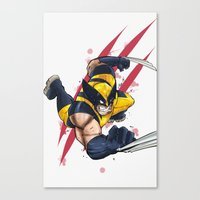 avenger Canvas Prints featuring Clawed Avenger  by Pink & Nanook
