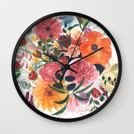 Autumn Gathering Wall Clock