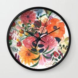 Autumn Gathering Wall Clock