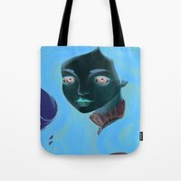 doll Tote Bags featuring Doll by Lily Art