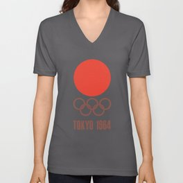 Vintage 1964 Tokyo Olympics Decal Cycling t-shirts Unisex V-Neck