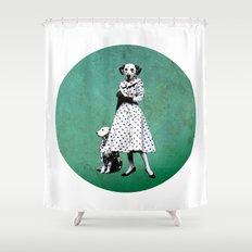Two dalmatians - humor Shower Curtain
