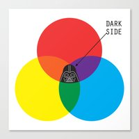 dark side Canvas Prints featuring Dark Side by I Love Doodle