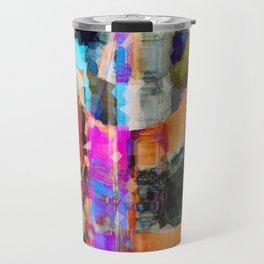Artful Spirit Mosaic Bold Pattern Colorful Geometric Abstract - Corbin Henry Travel Mug