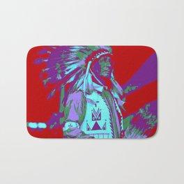 Indian Chief Pop Art Bath Mat