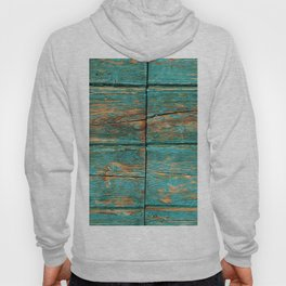 Rustic Teal Boards (Color) Hoody