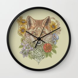 Fox Garden Wall Clock