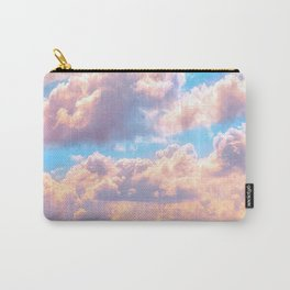 Beautiful Pink Cotton Candy Clouds Against Baby Blue Sky Fairytale Magical Sky Carry-All Pouch
