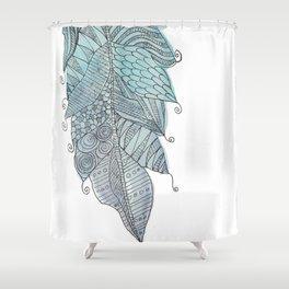 Fernanda Garner Feather Shower Curtain